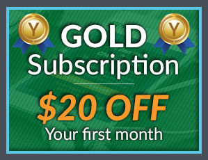 $20 OFF Gold Subscription Sale